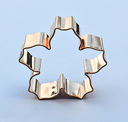 ecrandal Cherry Blossom copper cookie cutter