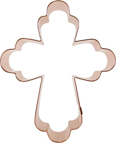 CopperGifts: Elegant Cross Cookie Cutter