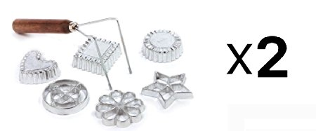 Norpro Swedish Rosette Cookie & Timbale Pastry Set 6 Molds New (2-Pack)