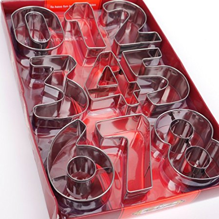 Number Set Cookie Cutters- Stainless Steel
