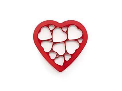 Lekue Cookie Cutter Puzzle, Hearts, Red