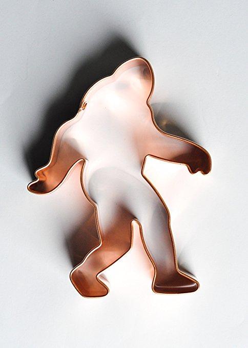 ecrandal Bigfoot Sasquatch copper cookie cutter