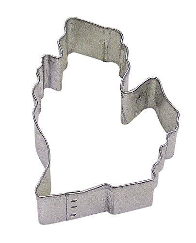 CybrTrayd R&M Michigan State Tinplated Steel Cookie Cutter, Silver, Bulk Lot of 12