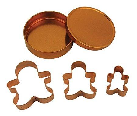 Fox Run Brands 21001 Copper Gingerbread Cookie Cutter Set