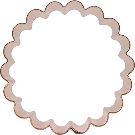 CopperGifts: Scalloped Circle Cookie Cutter 4-inch