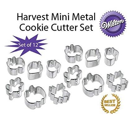 Wilton Harvest 6 Piece Mini Metal Cookie Cutter Set (12 Pack)