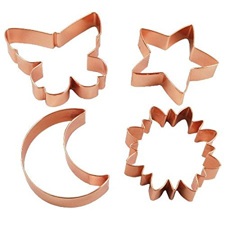 Farberware Classic Copper Cookie Cutters Set of 4