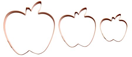 Apple Cookie Cutter by The Fussy Pup (set of 3)