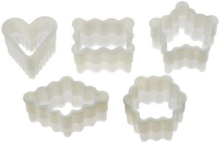 Fat Daddio's CKC-2150 5-Piece Fluted Petit Four Nylon Cutter Set