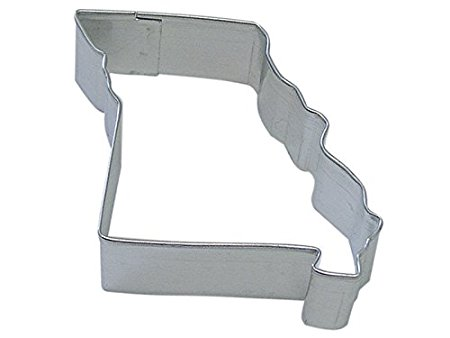 CybrTrayd R&M Missouri State Tinplated Steel Cookie Cutter, Silver, Bulk Lot of 12