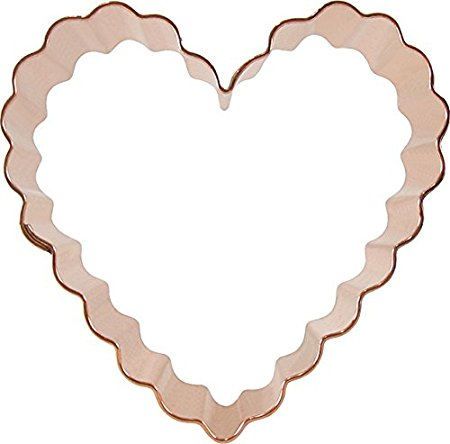 CopperGifts: Scalloped Heart Cookie Cutter 3.5 inch