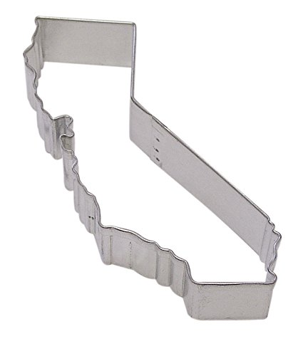 CybrTrayd R&M California State Tinplated Steel Cookie Cutter, Silver, Bulk Lot of 12