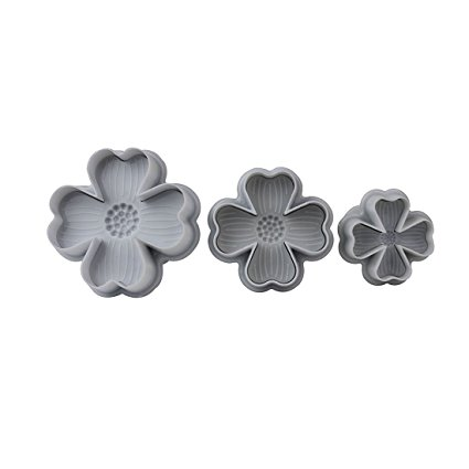 New 3Pcs/Set Flower Shape Cake Sugarcraft Plunger Decoration Diy Tool Mold Kitchen Accessories by FullDream
