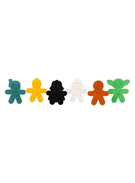 Star Wars Cookie Cutters for Gingerbread or Sugar Cookies - Set of 6