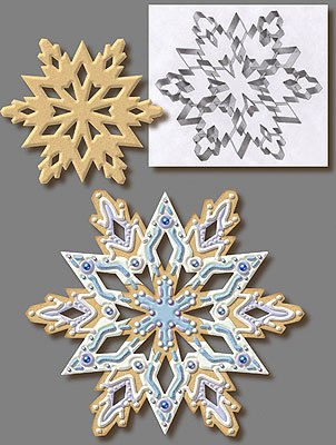Large Snowflake Stainless Steel Cookie Cutter 7.5