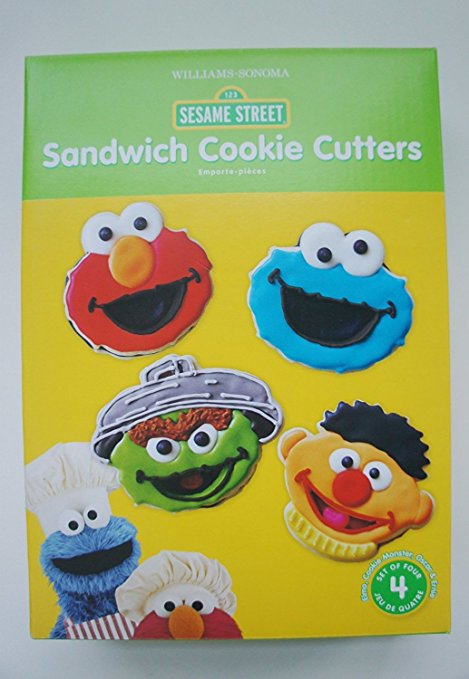 Sesame Street Sandwich Cookie Cutters Mold Set
