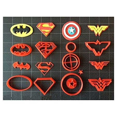 Super Hero Cookie Cutter (Set A) / Fondant Cutter / Cupcake Topper - (14pc Set) (2