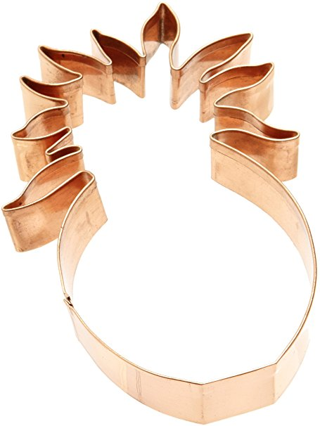 Old River Road Pineapple Shape Cookie Cutter, Copper