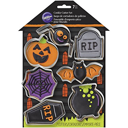 Wilton 2308-0999 7 Piece Haunted House Cookie Cutter Set